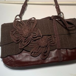 Small Brown Leather & Wool Jamin Puech Purse